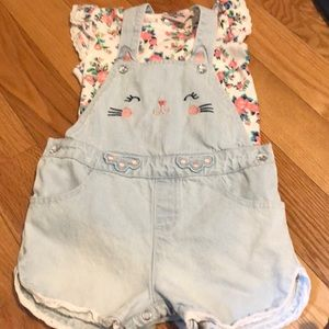 Little Lass Baby- 2pc overall w/shirt